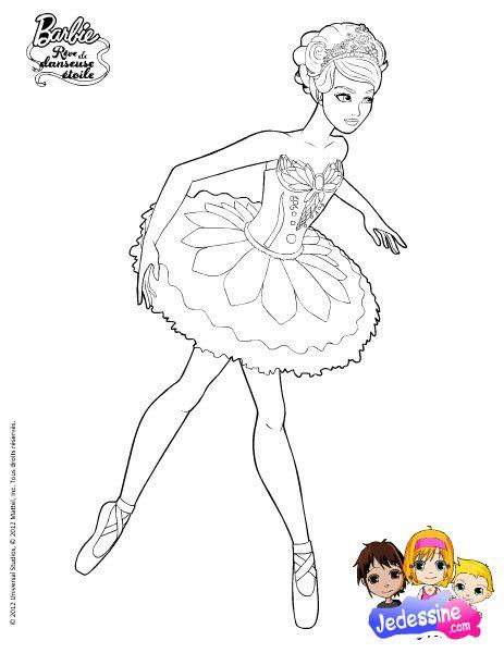 Coloriage Barbie Danse 1