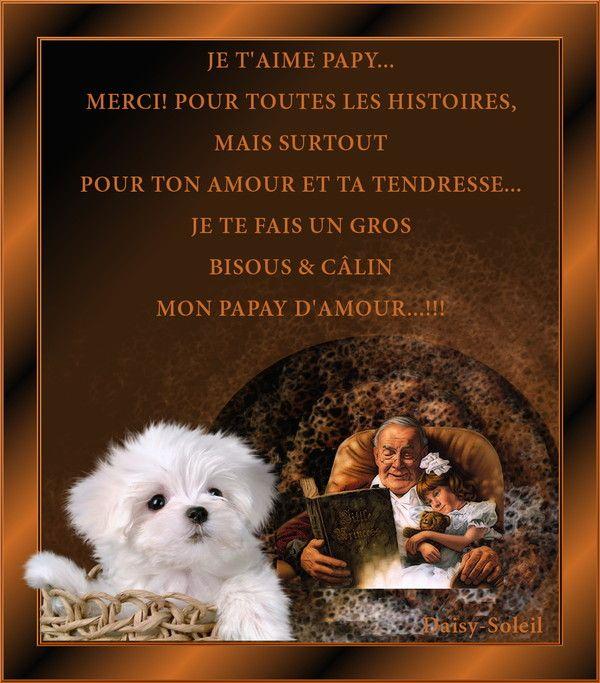 Grand Papa Je Taime Papy Poeme Pour Papa Je Taime